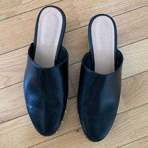 Zara studded black clogs.  Mint. Never worn